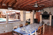 Terrace with barbecue - Country house Palomar - El Palomar, Valencia (Spain)